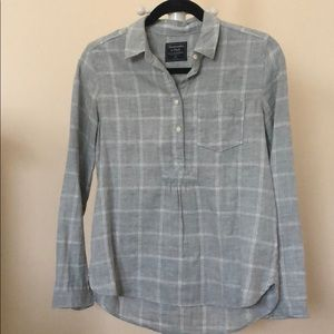 Abercrombie & Fitch Gray Plaid Shirt